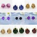 Brincos da moda Para A Venda de Jóias de Luxo Brincos De Luxo Brincos de Cristal Austríaco Para As Mulheres Do Sexo Feminino de Ouro-banhado Brincos Jóias