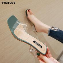2020 Women Sandals Shoes Celebrity Wearing Simple Style PVC