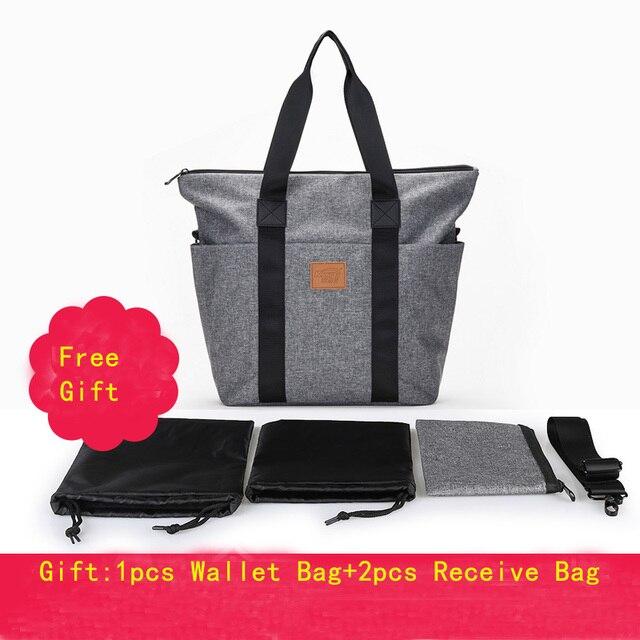 Oxford Portable Lunch Box Tote Bolsa Termica Women Bags for Mom Diaper Bag Travel Shoulder Messenger Bag Package Men Tote Gray
