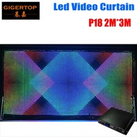 P18 2M x 3M LED Video Curtain,Fast Ship LED Vision Curtain With Professional Line PC/SD Controller For DJ Backdrops LCD Display
