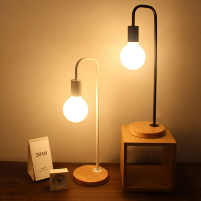Led desk lamps simple children learning light modern bedroom bedside reading table lamp iron metal light