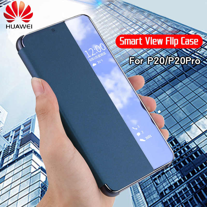 Huawei P20 Pro Case Original Official Smart View Window PU Leather Flip Cover Huawei P20 Case HUAWEI P20 Pro Flip Case Cover