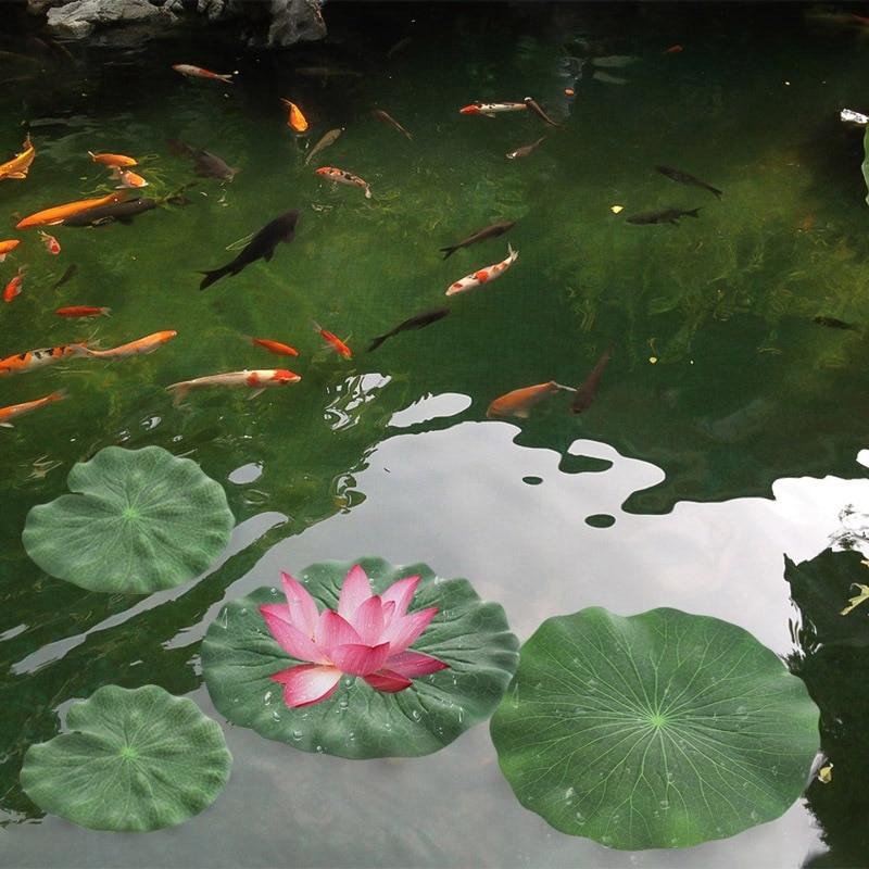 5x Artificial Flower Leaf Aquarium Decor Garden Pond Floating Leaves DIY Decor