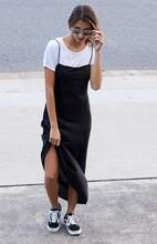 Sexy Maxi Slip Dress Camis Women Casual vestido de festa feminino Monos Summer Style Backless Party Boho Little Black Dresses