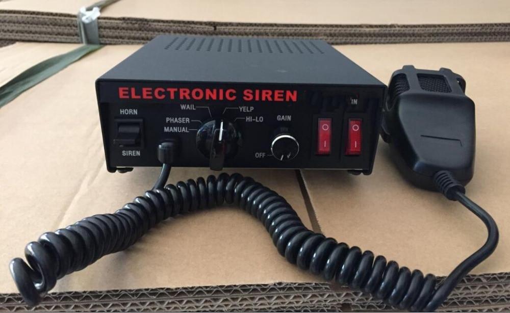 Haute puissance PA300 100 W 7 sons sirène de Police, sirène d'avertissement d'ambulance, alarme de voiture d'incendie avec microphone (sans haut-parleur)