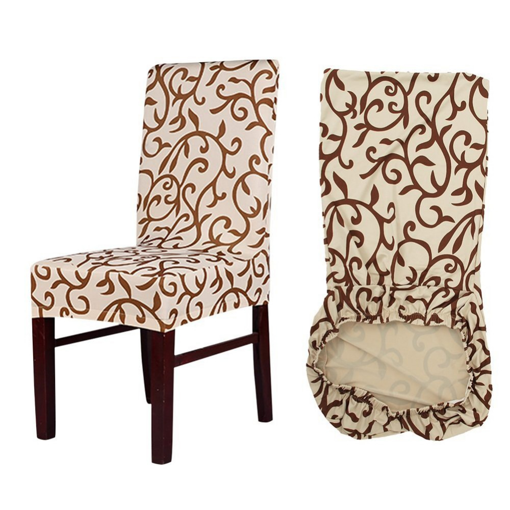Meijuner Flower Printing Removable Chair Cover Big Elastic Slipcover Modern Kitchen Seat Case Stretch Chair Cover For Banquet