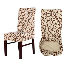 Meijuner Flower Printing Removable Chair Cover Big Elastic Slipcover Modern Kitchen Seat Case Stretch Chair Cover For Banquet(China)