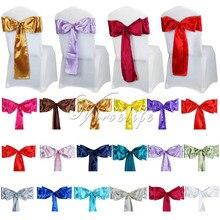"""25 шт./лот атласная лента на стул бант """" x 108"""" для банкета, свадьбы, банкета, галстуки-бабочки, украшение на стул"""