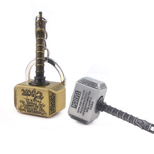 Newest Avengers Endgame Thor Hammer Keychain Solid Rotation Metal Car Keyring Guardians of the Galaxy Groot Key Toy Jewelry
