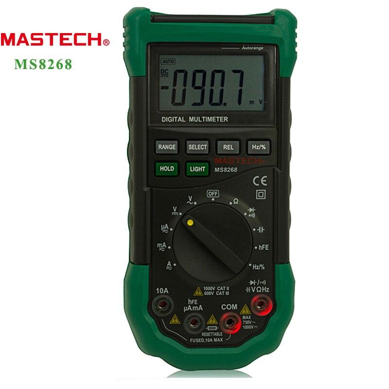 Mastech Ms8268 Digital Multimeter : Mastech ms auto range digital multimeter ac dc ammeter