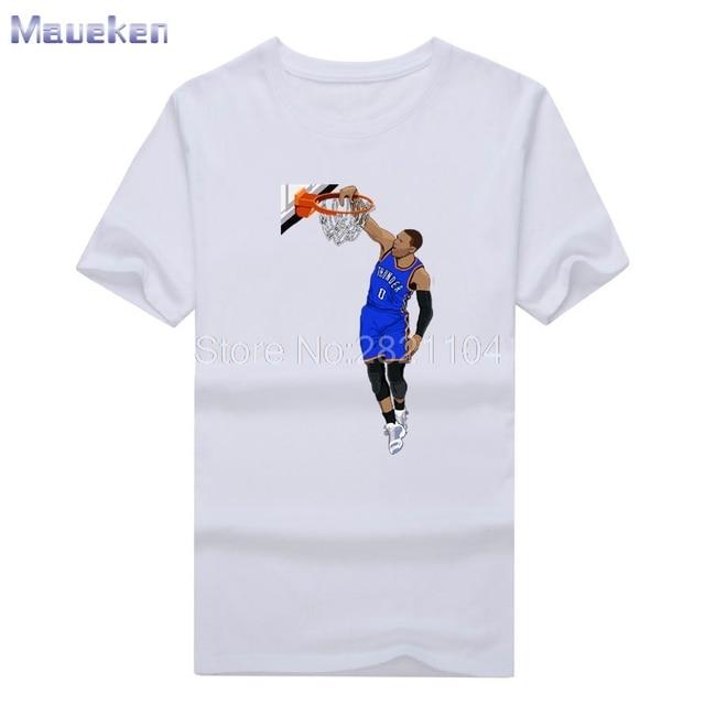36d085123806 Russell Westbrook tee 2017 Custom Slam Dunk t-shirt 100% cotton T Shirt Man  casual for fans gift 0627-7