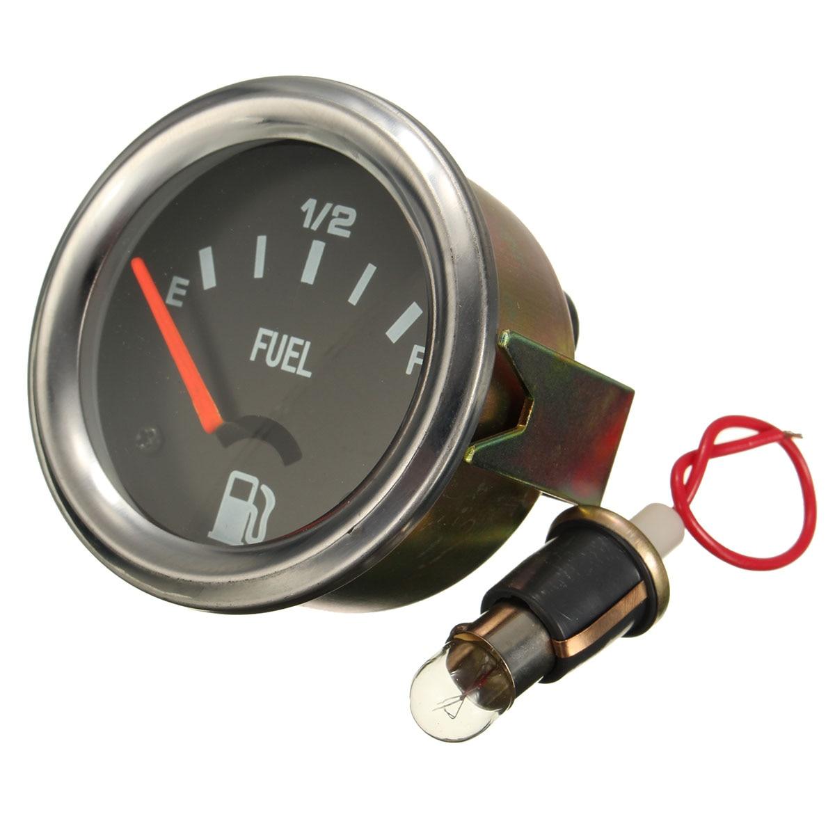 52mm Mechanische Auto Auto Kraftstoffanzeige Gelb Licht Ohne Sensor E-1/2-F Pointer 12 V