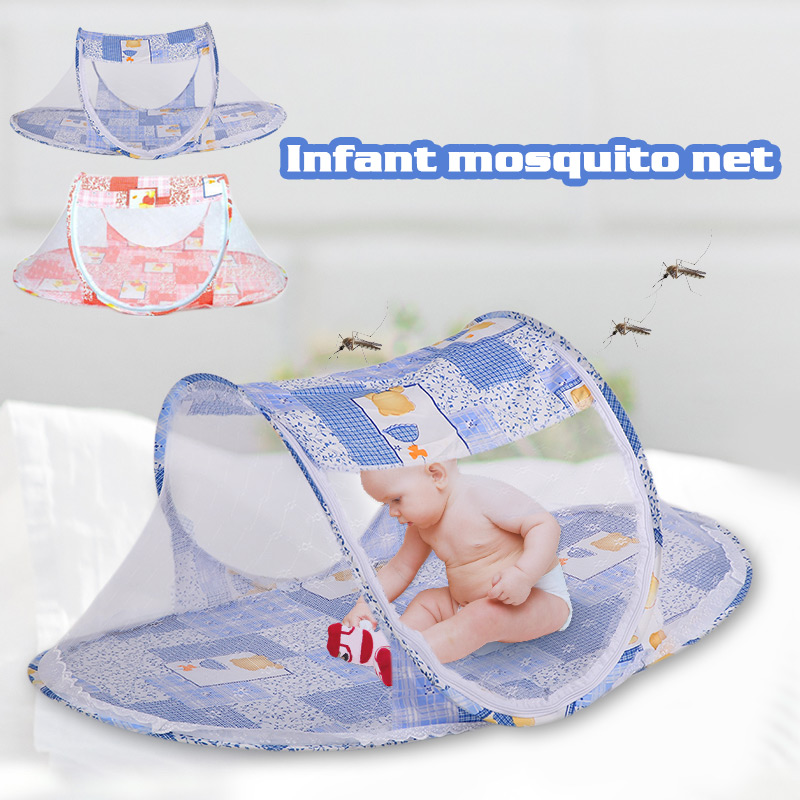 Baby Mosquito Net Newborn Mosquito Net Baby Crib Tent Infant Mosquito Net 2 Colors Foldable Portable Creative Sleeping Travel