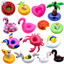 Mini Unicorn coasters Inflatable Cup And all kinds of air cushions Holder Beverage Boats Summer Pool Party Hawaii Beach Party