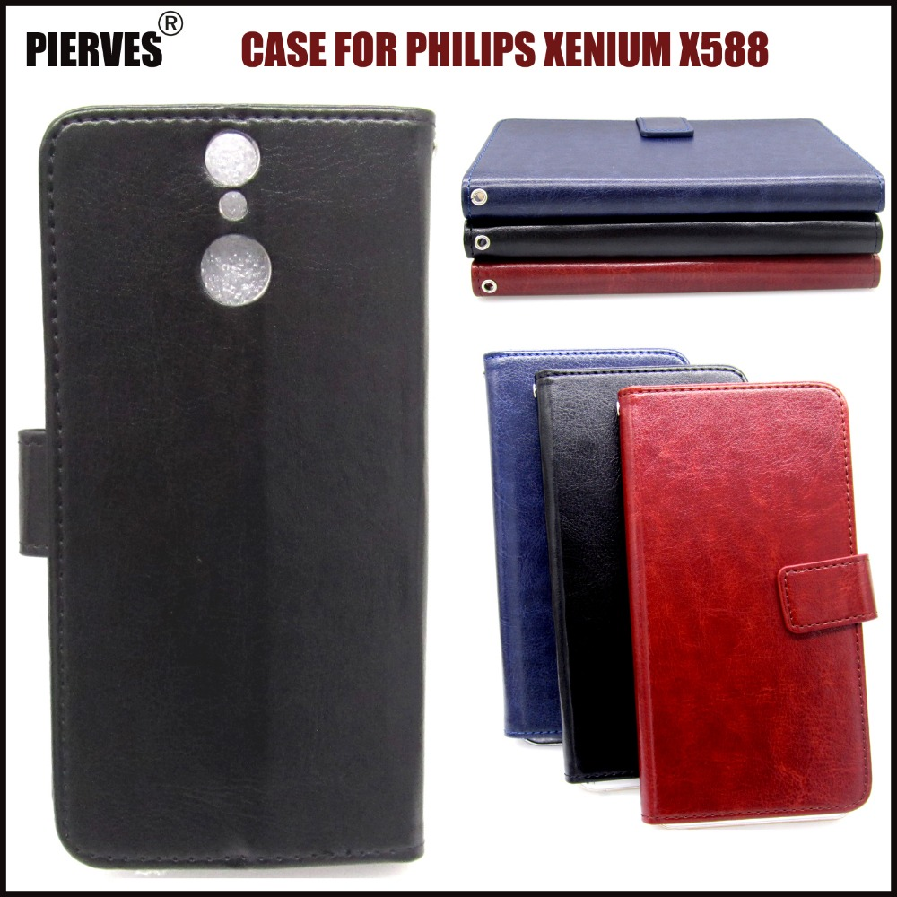 Buy Casteel Classic Flight Series high quality PU skin leather case For Philips Xenium X588 Case Cover Shield for only 3.99 USD