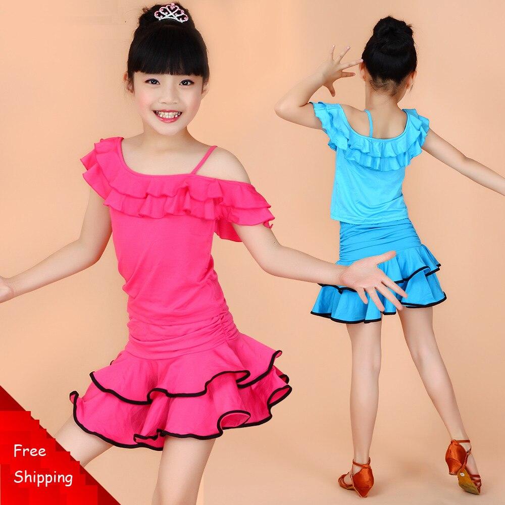 Girl Kids Dance Sport Dresses Tango Dress Saias Samba Costume