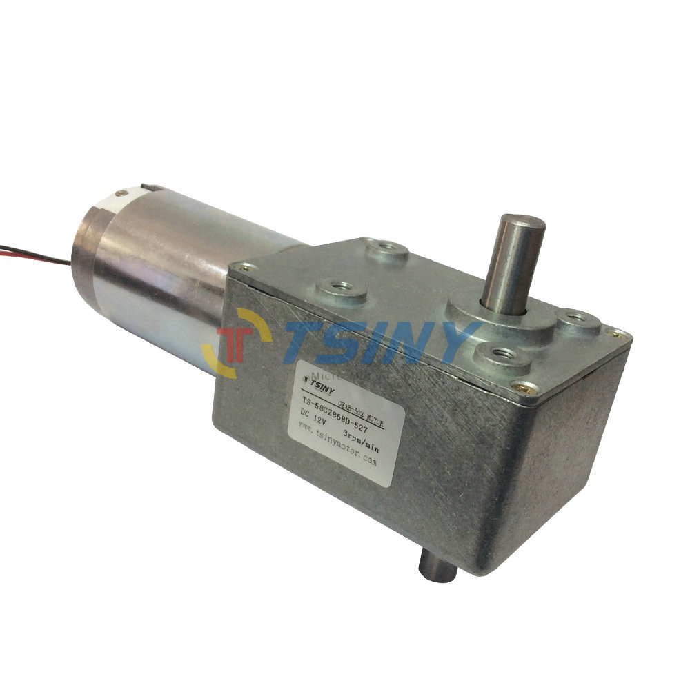 Dc12v3 rpm high torque worm reducer geared motor low speed for Low rpm motor dc