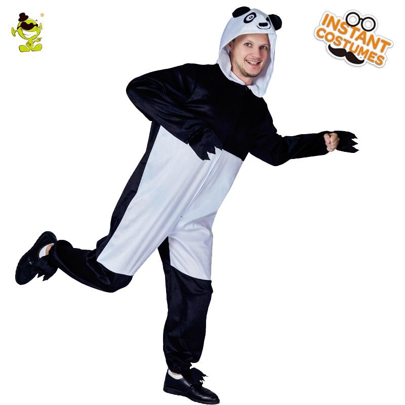 Adult Mens Panda Pajamas Costume In Winter Cute Animal Pajamas Fancy Dress Animal One Size Pajamas Cosplay Male Pajamas