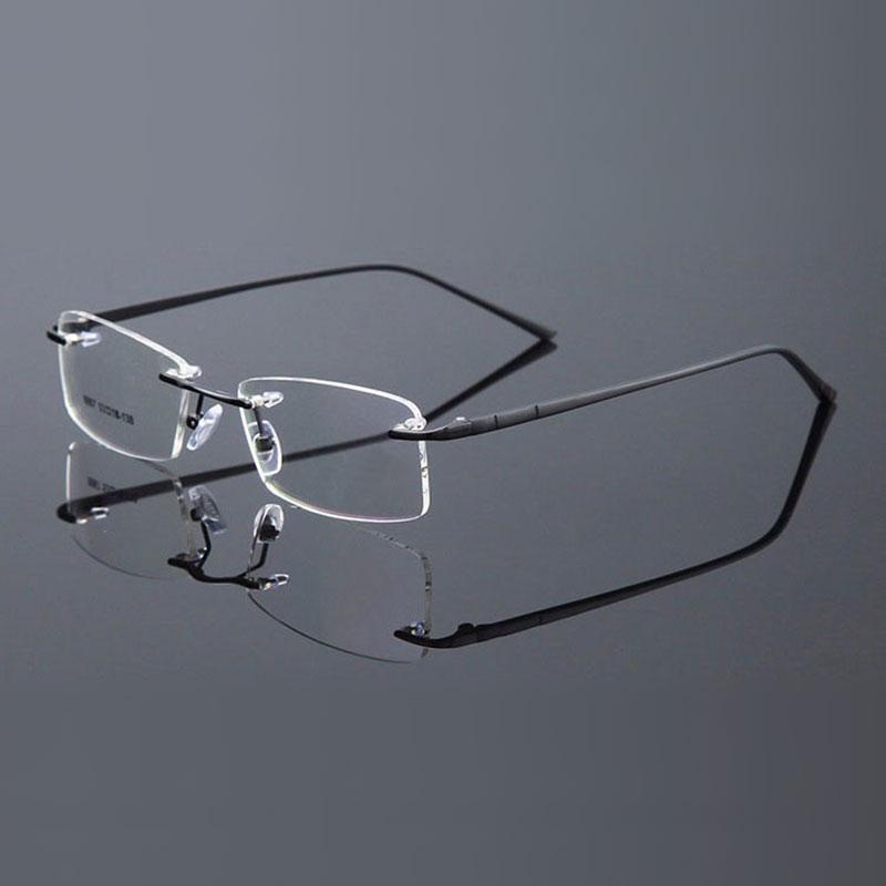 Reven Jate Randlose Brillen Legierung Metallrahmen Brillen Optische - Bekleidungszubehör - Foto 4