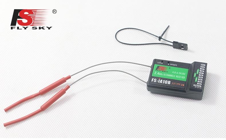 Flysky 10ch FS-IA10B receptor FS IA10B para transmisor FS-I10 FS-I6S FS-iT4S FS-I4 FS-I6 Control remoto FPV RC Quadcopter Drone