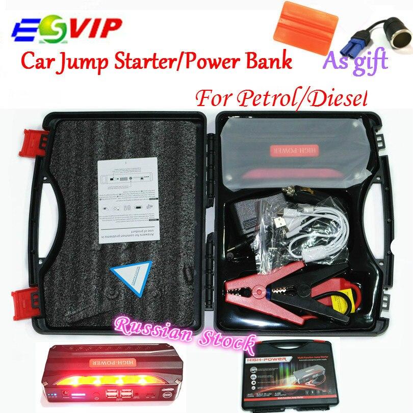 Portátil coche Jump Start Baterías portátiles auto emergencia Salto de arranque salto coche auto batería Booster Pack vehículo Salto de arranque