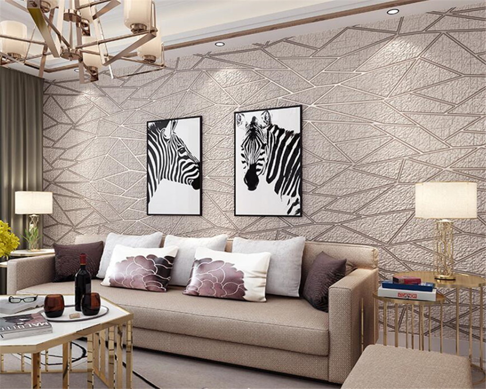 Beibehang 3D Deluxe Woonkamer TV Achtergrond 3d Wallpaper Moderne ...