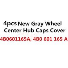 4x High Quality 2017 Car Gray Wheel Center Hub Cap ,Fits For 4B0601165A,  148mm