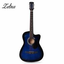 Zebra 6 Color 38 Inch Wooden Folk Acoustic Guitarra Electric Bass Fret Guitar Ukulele with Case Bag for Musical Instrument Lover