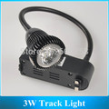 LED Two Wire Track Light / 3W Led bending pole Spotlights / Backdrop Wall Lamp 5pcs