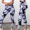 High Waist Yoga Pants Women's Fitness Sport Leggings Flower Printing Elastic Gym Workout Tights S-XL Running Trousers Plus Size 3