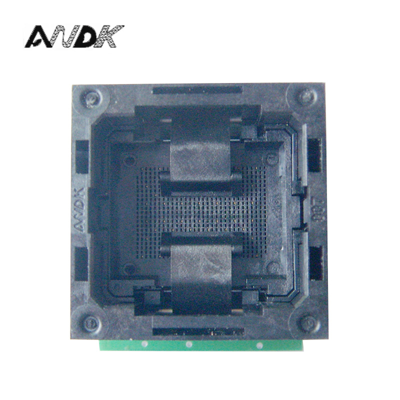 Flash Programmer Adapter LGA52 TO DIP48 IC Test Socket With Board Burn in Socket Open Top Structure LGA52 Programming Socket usb tl866cs programmer eprom spi flash avr gal pic 9pcs adapters test clip 25 spi flash support in circuit programming adapter