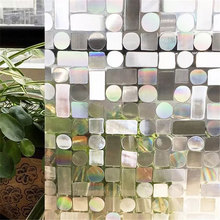 45*200cm 3D Laser Static Window Privacy Film PVC anti-uv Glass Sticker Crystal Opaque bedroom Home Decorative for Furniture