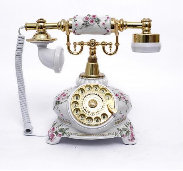 Европейский Год Сбора Винограда Способа Поворотные Пластины Телефон Античный Телефон Стационарный Телефон Офиса Дома Sey Экспресс Dhl Fedex IE