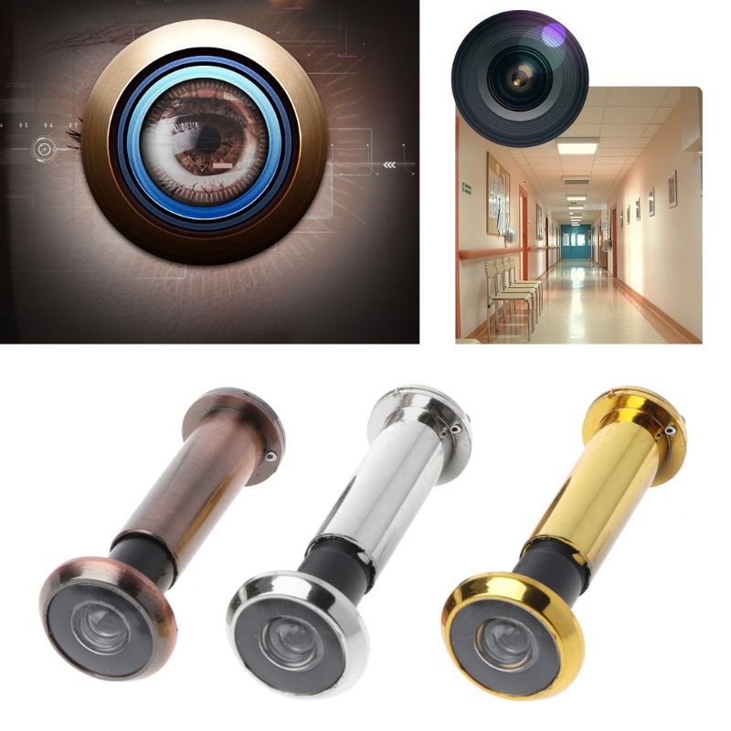 2 Pcs 220 Degree Wide Viewing Angle Door Viewer Privacy Cover Security Door Eye Viewer