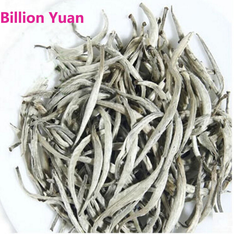 Top Grade100g chinese tea Organic Premium Bai Hao Yin Zhen White Tea Silver Needle fuding White Tea Conquer blood pressure(China (Mainland))