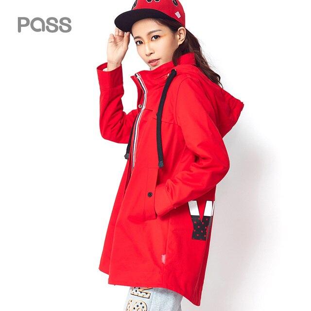 PASS 2017 New Trench Coat Fashion Autumn Women Long Coats Loose Pocket Zipper Windbreaker Cotton Hooded Trench Casaco feminino