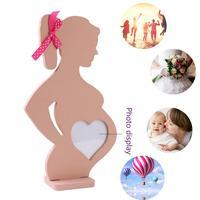 Деревянная фоторамка 15 см * 26,2 см * 0,9 см деревянная фоторамка с изображением сердца для беременных Свадебная Маленькая деревянная фоторамка...