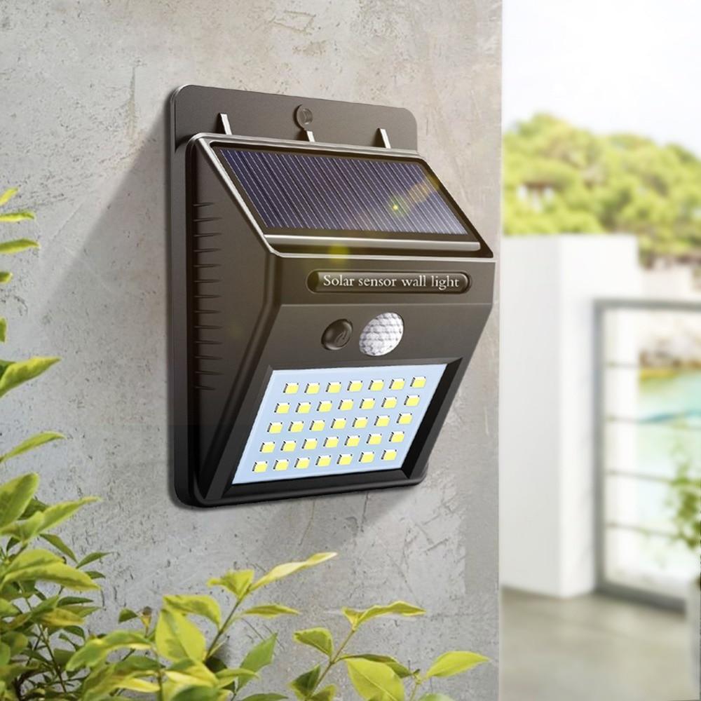 Außenbeleuchtung 48 Leds Dual Kopf Solar Licht Radar Sensor Scheinwerfer Wasserdichte Outdoor Solar Garten Licht Super Hellen Hof Flut Led Lampe