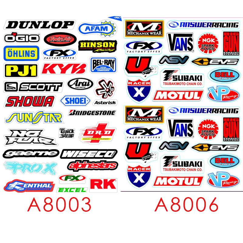 2pcs  A4size Waterproof Helmet Stickers Motorcycle Car Refrigerator Suitcase Computer Decal