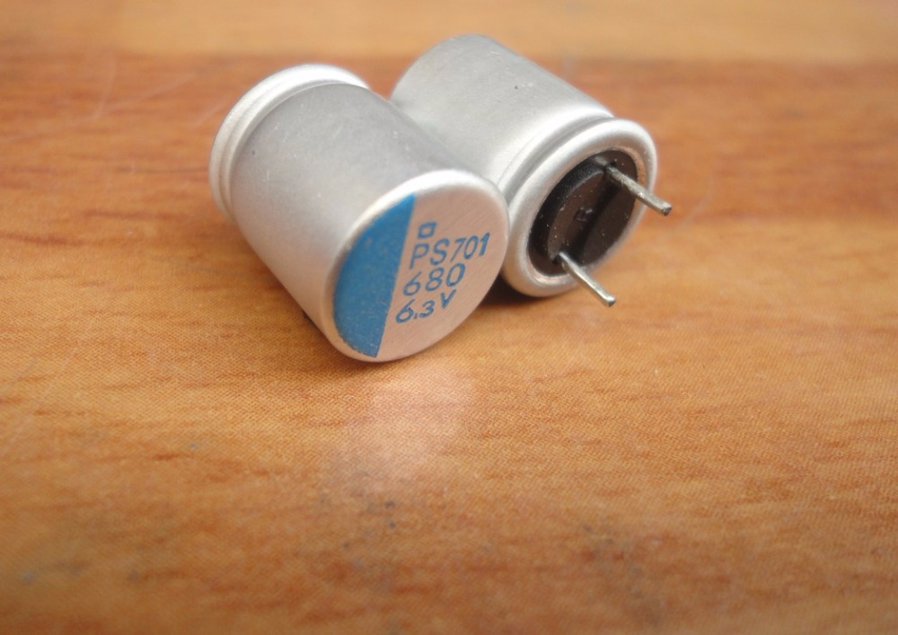 10pcs 680uF 6.3V NCC PS Serires 10x12.5mm Super Low ESR High Ripple Current 6.3V680uF For MB/VGA Solid Capacitor