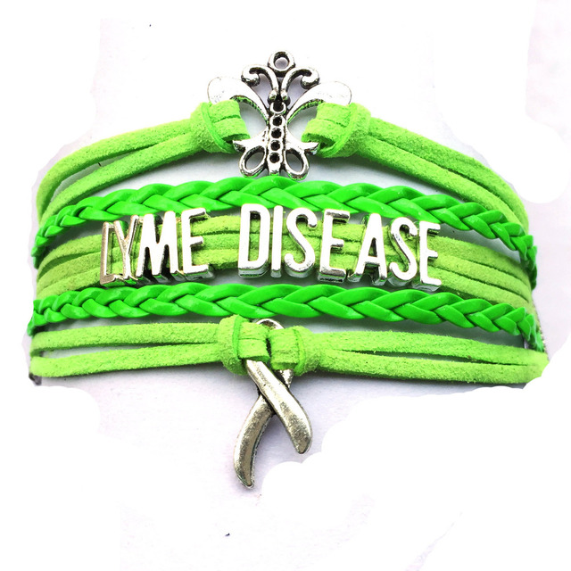 Drop Shipping Lyme Disease Butterfly Cancer Ribbon Awareness