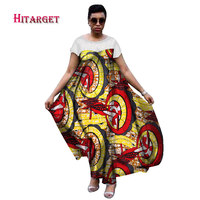 2017 Autumn New Dashiki African Dress For Women Cotton Wax Long Maxi Size Dress Short Sleeve Losse Style Party Dress WY1648