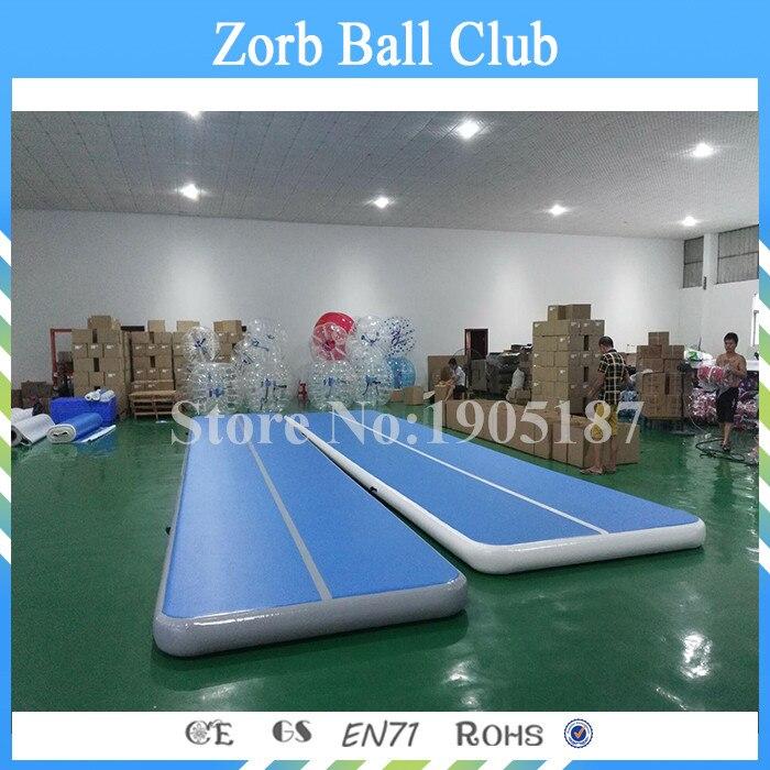 Livraison gratuite 12x2 m piste d'air gonflable pour Gym piste d'air gonflable pour Yoga utilisé piste de dégringolade d'air Promopte