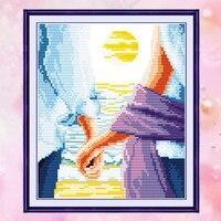 Liczba crossstitch JoySunday DMC14CT11CT bawełna robótki diy życie Niebieski Miłość ręce sypialnia dla dzieci pokój sypialnia pokój dziecka malowanie