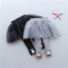 Новые бархатные леггинсы для малышей от 0 до 3 лет, комплект из газовой юбки и штанов, леггинсы