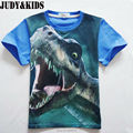 summer boys t shirt ruffle raglan shirts Dinosaur 3D t-shirt cotton bobo choses kids boys clothes top teenage clothing brands