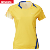 KAWASAKI Summer Sports Shirts Gym Fitness Women T Shirt Short Sleeve Running Badminton Tennis T Shirt ST T2022