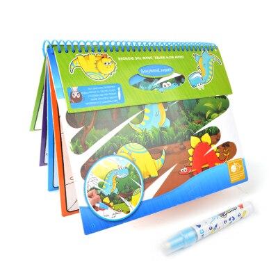 Зоопарк динозавр Вода Рисование книга Улучшенная карта доска волшебная ручка живопись доска для рисования детей развивающие игрушки - Цвет: Dinosaur book