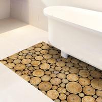 Simulated wood grain thicken Floor leather PVC floor sticker 3D waterproof Non slip durable home kitchen decoration stickers