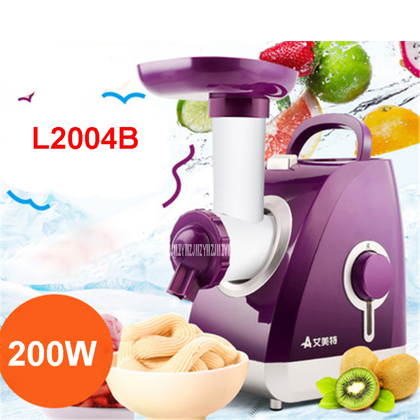 L2004B 220V/50 Hz  Soft ice cream maker 200w ice cream machine stainless steel Small size machine food grade PP material oris 743 7673 41 37rs